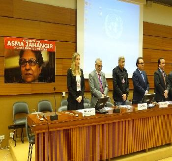Publication: In the Media: Ms. Isabela Fávero (EFSAS) paid tributes to late Asma Jahangir at the 37th Session of UNHRC