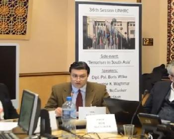 Publication: Mr. Burzine Waghmar (EFSAS Fellow) speaking during EFSAS side-event at the 36th Session of the UNHRC