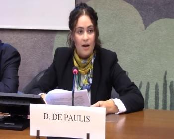 Publication: Ms. Danielle DePaulis (EFSAS) speaking on Asylum and Terrorism during 39th Session UNHRC