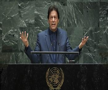 Publication: The unmistakable bluster in Pakistani Prime Minister Imran Khan's harangue at the UNGA