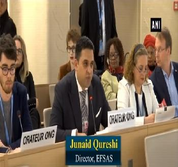 Publication: In the Media: Mr. Junaid Qureshi (EFSAS) speaking at the 40th Session of the UNHRC General Debate