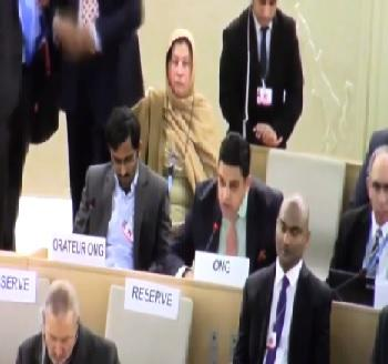 Publication: In the Media: Mr. Junaid Qureshi (EFSAS) speaking at the 37th Session of the UNHRC General Debate