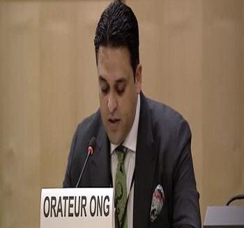 Publication: In the Media: Mr. Junaid Qureshi (EFSAS) speaking at the 43rd Session of the UNHRC General Debate
