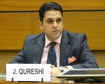 Publication: Mr. Junaid Qureshi speaking at a Side-event during the 34th Session of the UNHRC