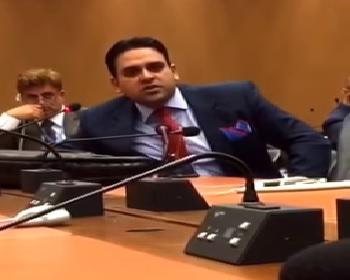 Publication: Mr. Junaid Qureshi (EFSAS) speaking at a Side-Event, during the 34th Session of UNHRC