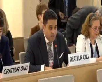 Publication: 40th Session UNHRC: Intervention by Mr. Junaid Qureshi - Director EFSAS