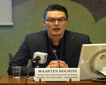 Publication: Mr. Bolhuis (VU Amsterdam) speaking during EFSAS side-event at the 37th Session of the UNHRC