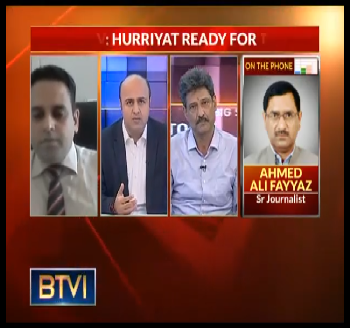 Publication: In the Media: Mr. Junaid Qureshi (Director EFSAS) talking to BTVI about the Hurriyat Conference - Part 2