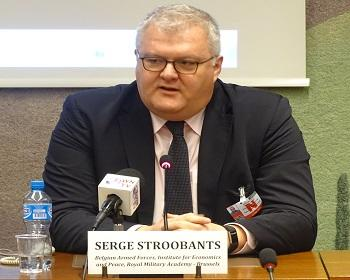 Publication: Lt. Col Serge Stroobants (IEP) speaking during EFSAS side-event at the 37th Session of the UNHRC