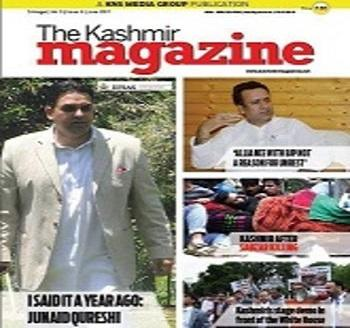 Publication: In the Media: Interview of Mr. Junaid Qureshi - Cover Story of 'The Kashmir Magazine'