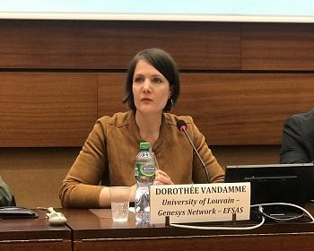 Publication: Dr. Dorothée Vandamme (University of Louvain) speaking during EFSAS Side-event at the 40th Session of UNHRC