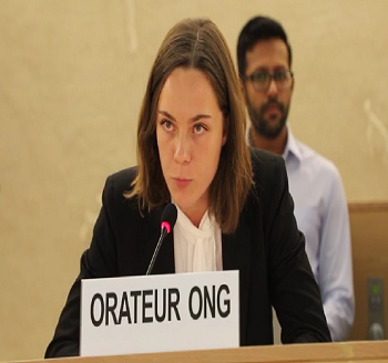 Publication: In the Media: Ms. Veronica Ekelund (EFSAS) speaking at the 41st Session of the UNHRC General Debate