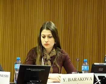 Publication: Ms. Yoana Barakova (EFSAS) discussing the legal framework on child soldiers during the 40th Session of UNHRC
