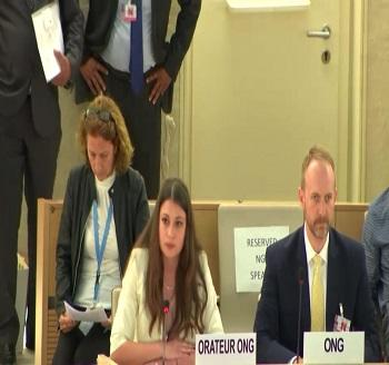 Publication: In the Media: Ms. Yoana Barakova (EFSAS) speaking at the 39th Session of the UNHRC General Debate
